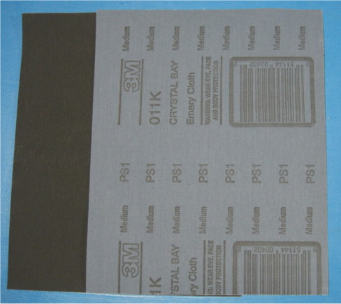"3M 8""x11"" Medium Grade Emery Cloth Sheet"