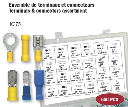 Electrical Terminal & Connectors Assortment (600 pcs)