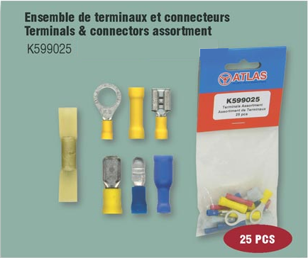 Electrical Terminal & Connectors Assortment (25 pcs)