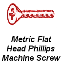 Mtr Flat Hd Phil Machine Screw