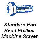 Stnd Pan Hd Phil Machine Screw