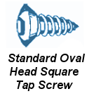 Stnd Oval Head Square Tap Screw