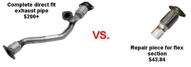 direct fit versus repair pipe