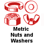 Metric Stainless Steel Nuts and Washers
