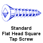 Stainless Steel Flat Head Square Tapping Screws