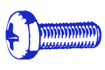 6-32 X 3/4 Pan Head Phillips Machine Screw Stainless Steel