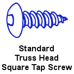 Stainless Steel Truss Head Square Tapping Screws
