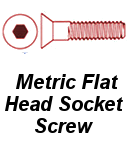 Metric Flat Head Socket Screw