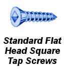 Stnd Flat Head Square Tap Screw