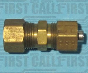 """3/8"""" Steel to Nylon Fuel Line Compression Fitting"""