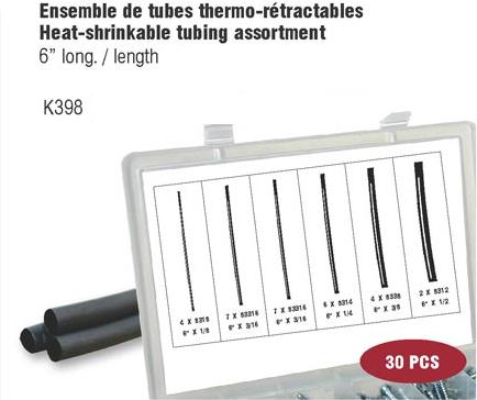 Heat-Shrinkable Tubing Assortment (30 pcs)