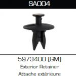 SA004 GM 5973400, 12757 Fascia Retainers