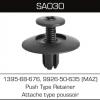 SA031 Nissan 01553-06721,17347, Front and Rear Bumper Cover (10pcs)