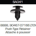 SA041 Toyota 90467-07166, 18888, Push-Type Retainer