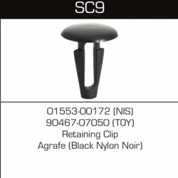 SC09 Nissan 01553-00172, Toyota 90467-07050, 14737 (10pcs)
