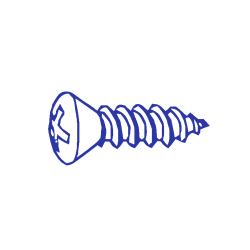 8 X 2 1/2 Oval Head Phillips Tapping Screw